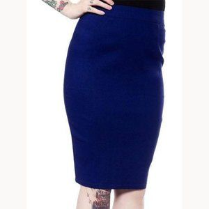 NWT Sourpuss Essential Pencil Skirt Navy Blue 3XL